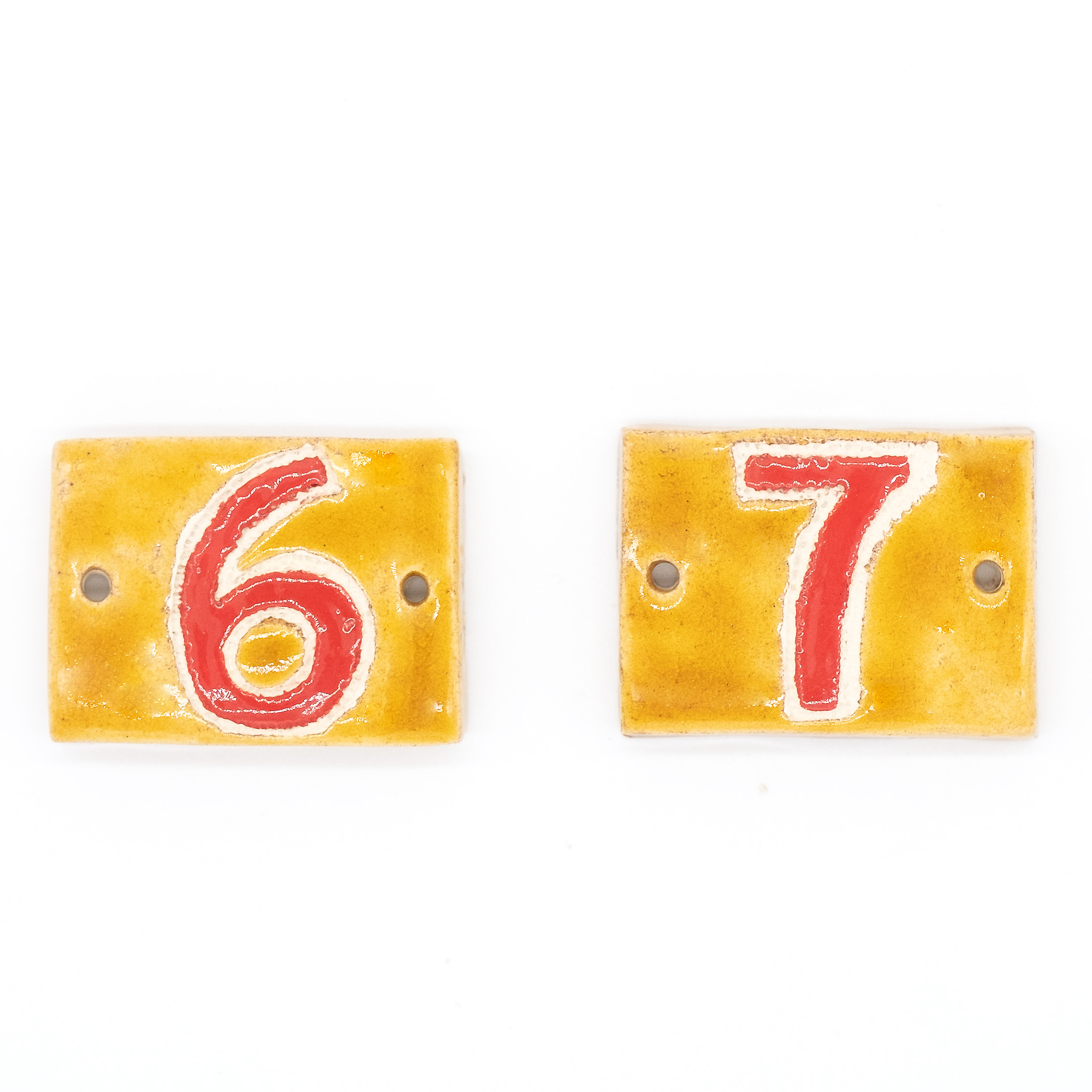 Piastrelle numeri civici - Stefania Mairano Creazioni in Ceramica