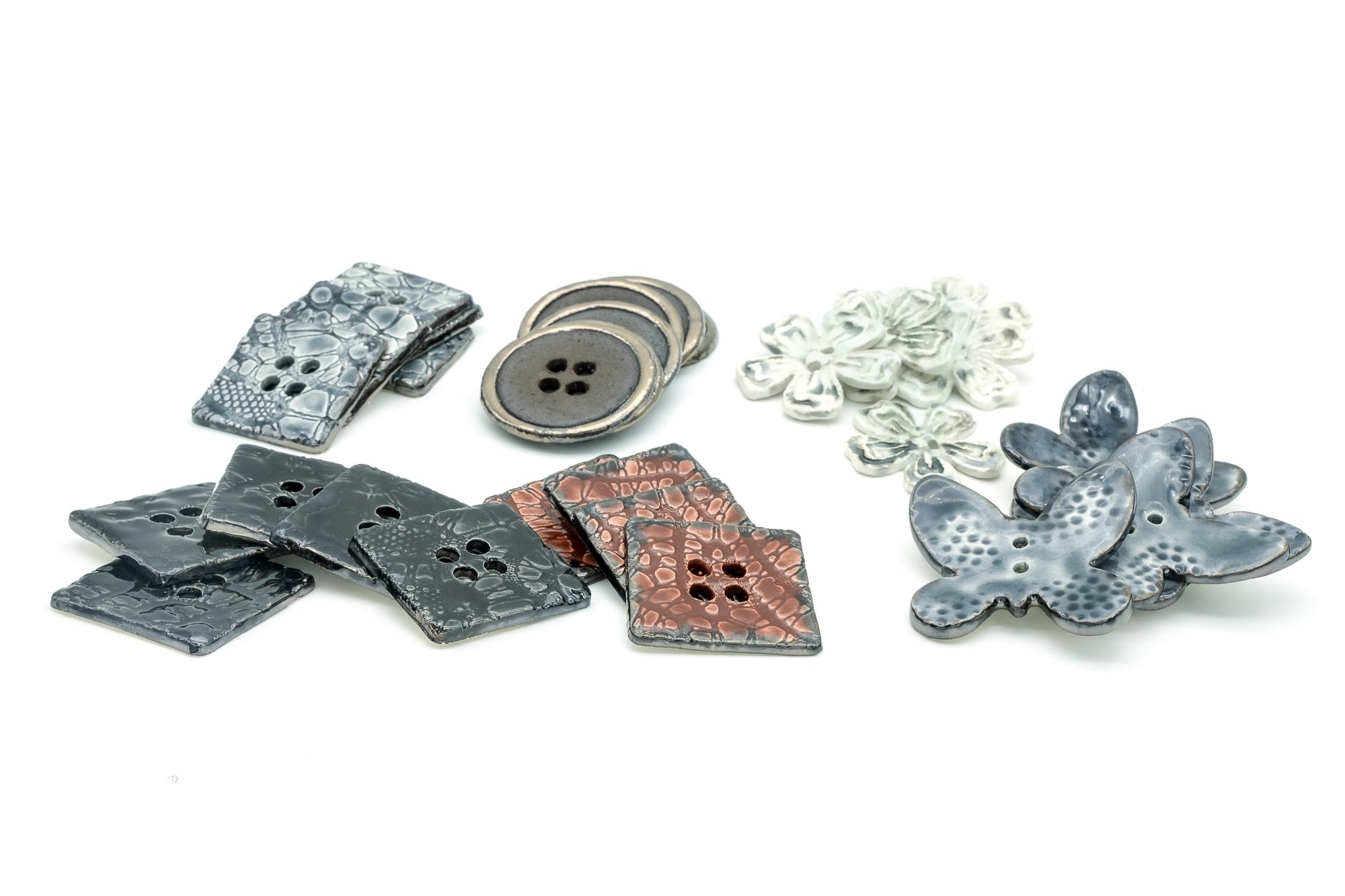 Bottoni in ceramica - Stefania Mairano Creazioni in Ceramica