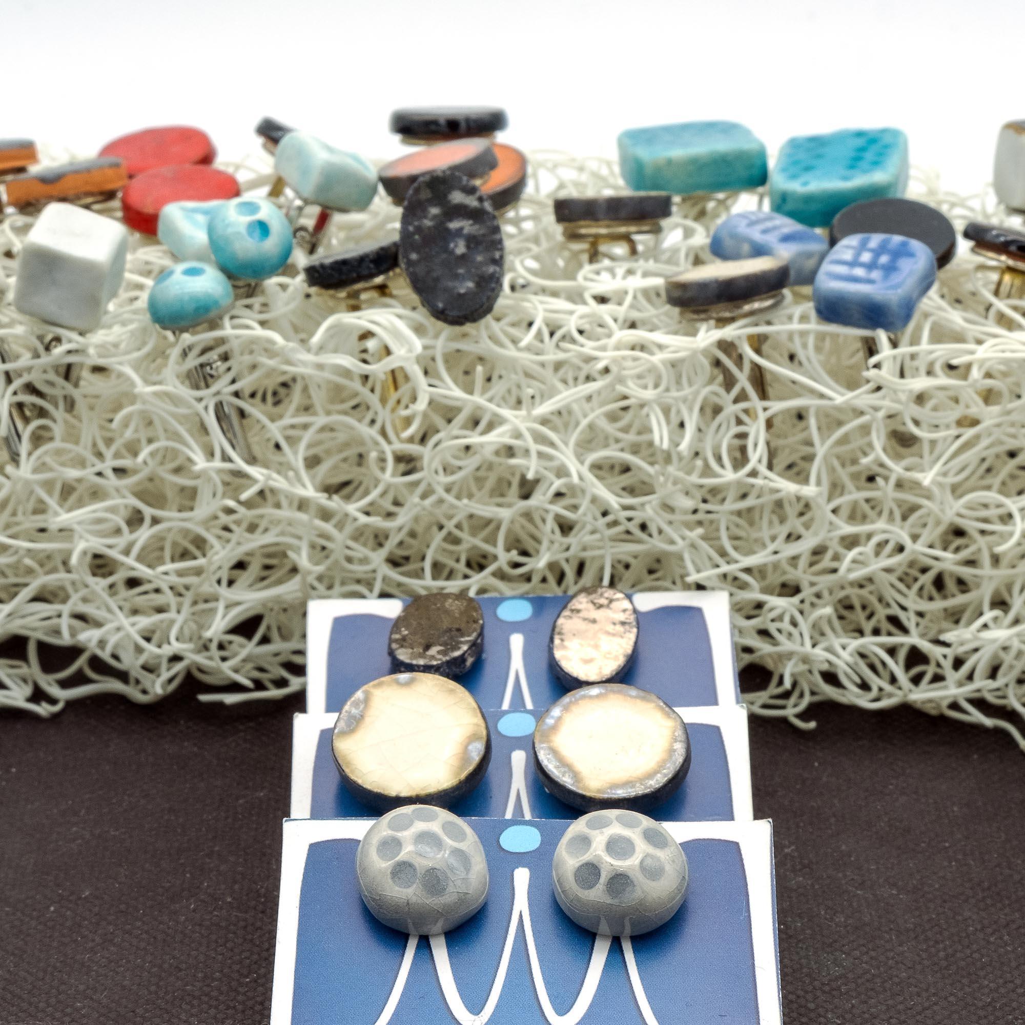 Gemelli in ceramica - Stefania Mairano Creazioni in Ceramica